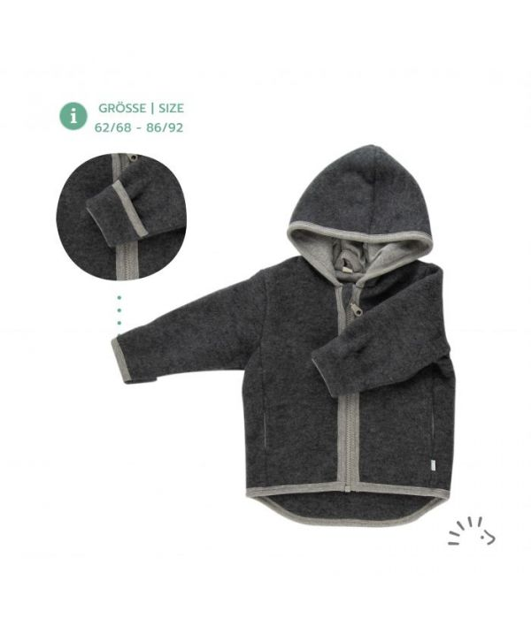 Bunda Iobio merino fleece - antracit